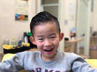 5歳の男の子のツーブロックスタイル