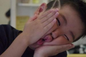 小学生ラインスタイル写真