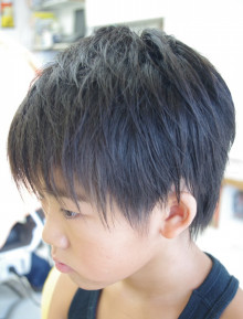 小学生ツーブロックの画像