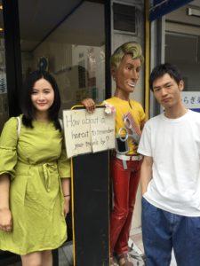 外国人観光客のスタイル写真
