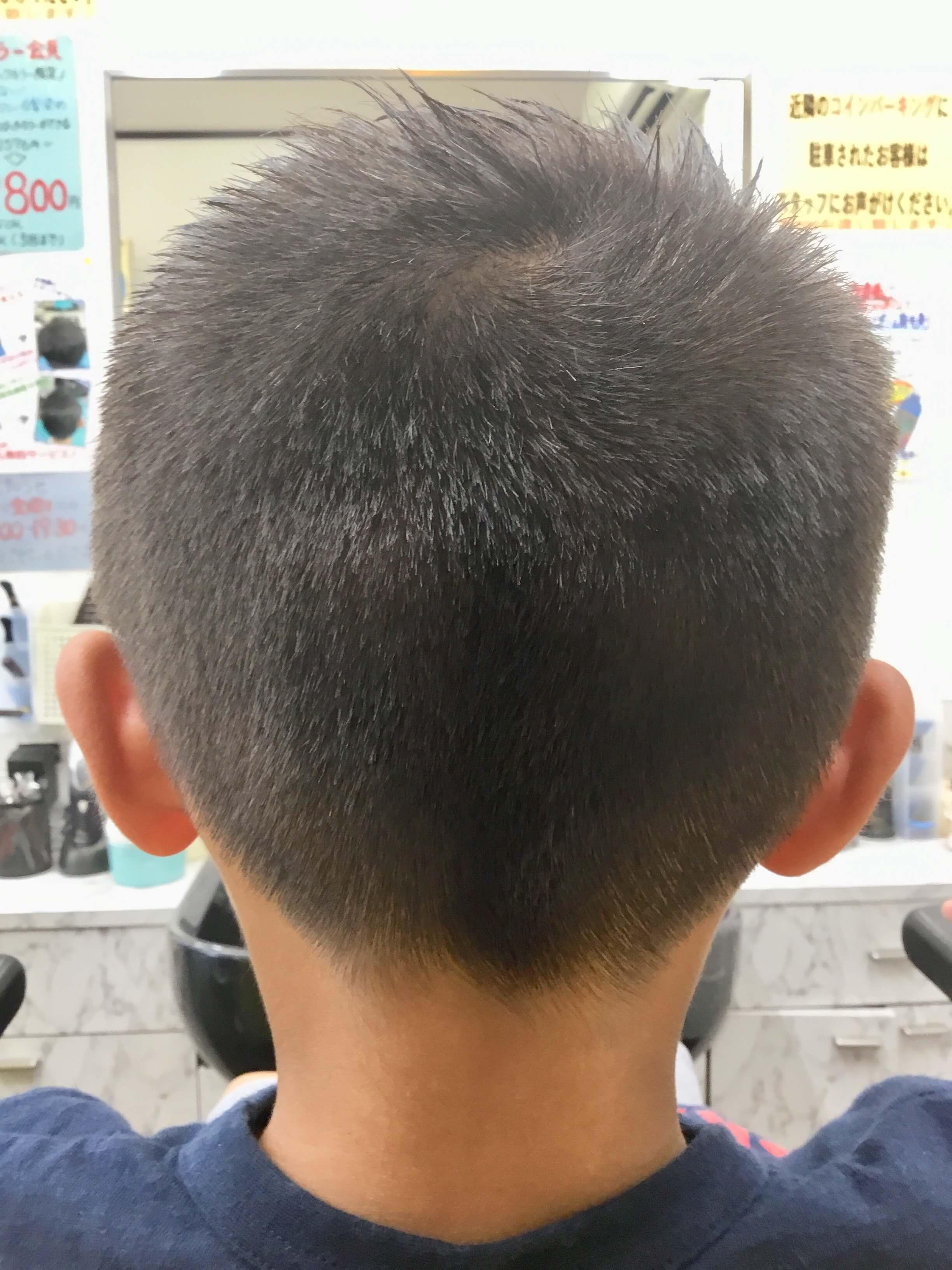 小学生ソフトモヒカンスポーツスタイル後ろからの画像