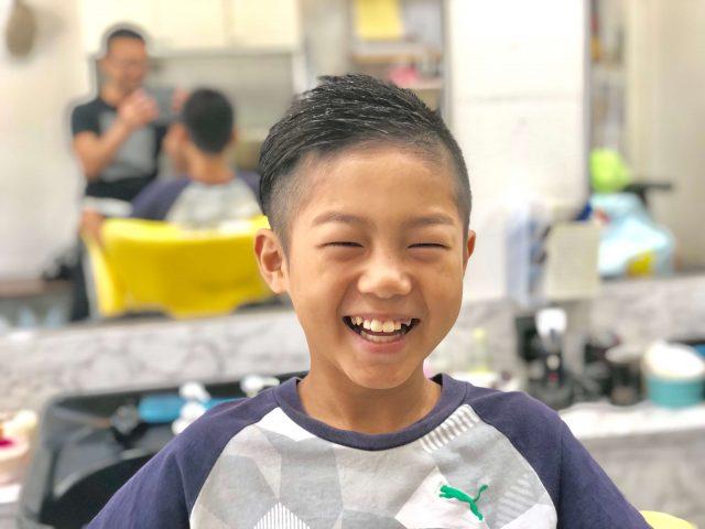4年生の男の子ツーブロックアシメの画像