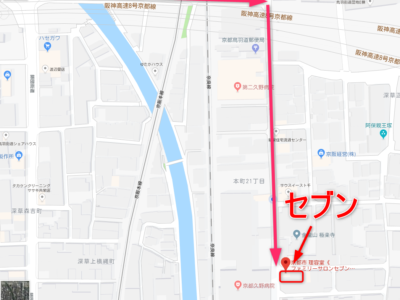 セブンの地図の画像