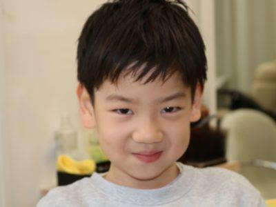 小学生男子のヘアスタイル写真