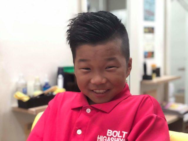 小学4年生3ミリ震災刈りの画像