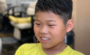 中学生8ミリ刈り上げソフトモヒカンスタイルの画像