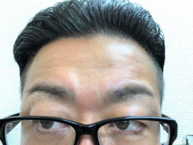 2ミリの長さのまゆ毛の画像