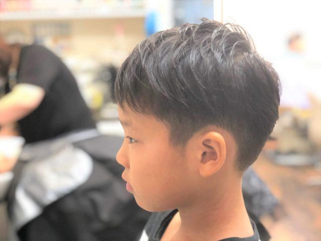低学年男子のアシメツーブロックの画像