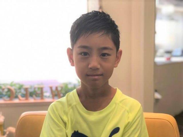 男の子のヘアスタイル写真