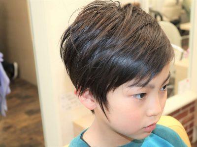 男の子の髪型の画像